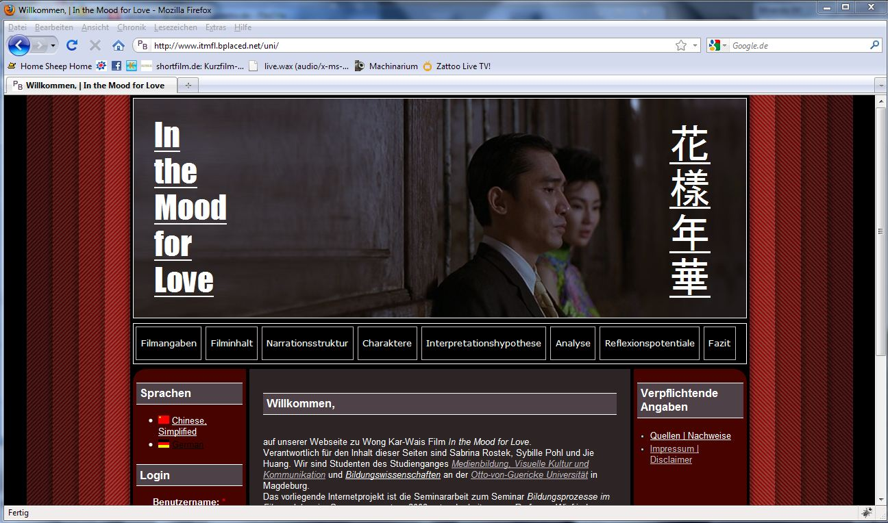 Projekt In the Mood for Love